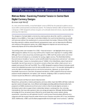 "Maniff, Jesse Leigh. ""Motives Matter: Examining Potential Tension in Central Bank Digital Currency Designs."" Payments System Research Briefing (2020): 1-4."