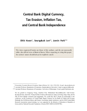 "Kwon, Ohik, Seungduck Lee, and Jaevin Park. ""Central Bank Digital Currency, Tax Evasion, Inflation Tax, and Central Bank Independence."" Bank of Korea WP 26 (2020)."