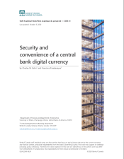 Kahn, Charles M., and Francisco Rivadeneyra. Security and convenience of a central bank digital currency. No. 2020-21. Bank of Canada, 2020.